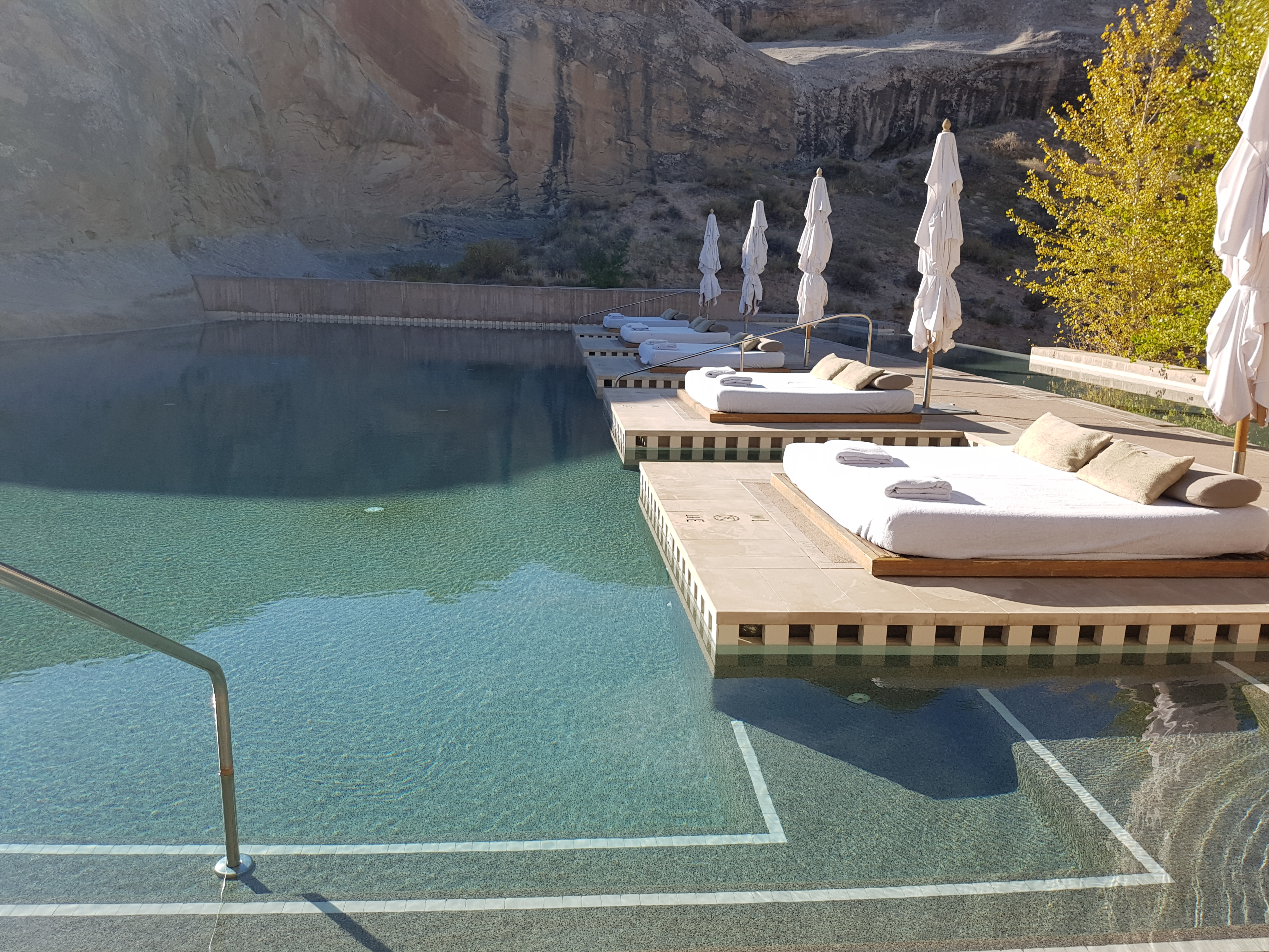 Amangiri pool daybeds